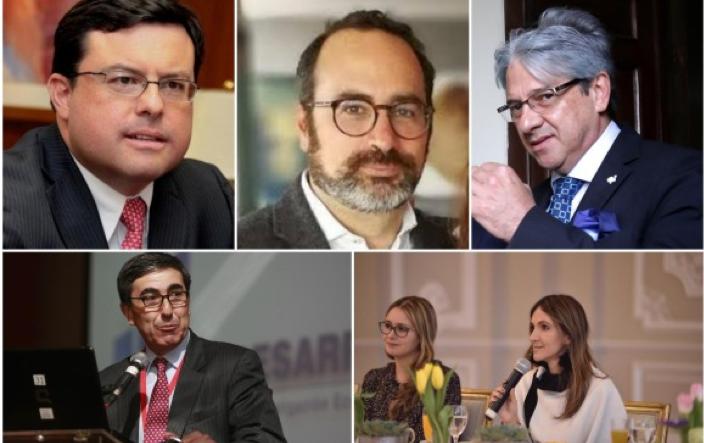 Juan Pablo Zárate, Alejandro Salas, Jaime Amín, Roberto Steiner y María Paula Correa (de izq. a der.)