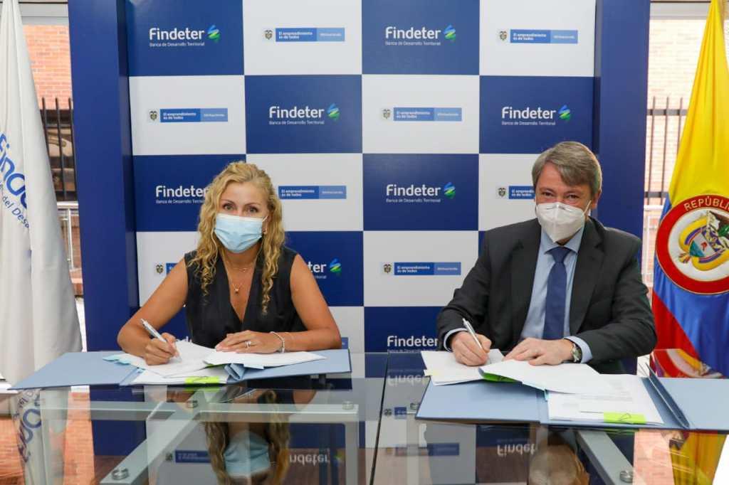 Findeter y el Banco de Desarrollo Alemán (KfW) firman contrato de préstamo por US$84,9 millones para financiar proyectos de agua, saneamiento básico y residuos sólidos